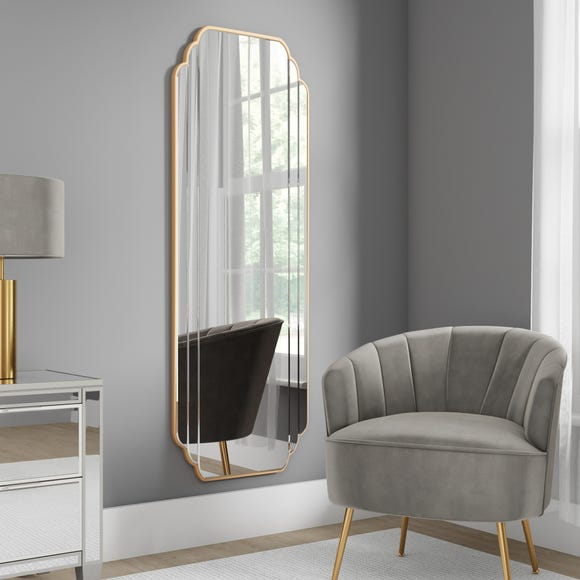 Equatorial Full Length Mirror Gold Gold undefined
