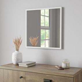Essentials 55cm Square Mirror White