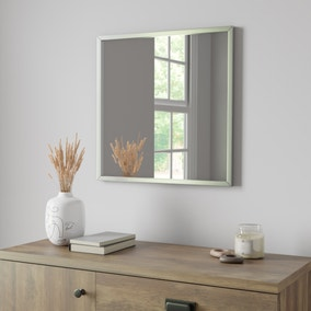 Essentials 55cm Square Mirror Silver