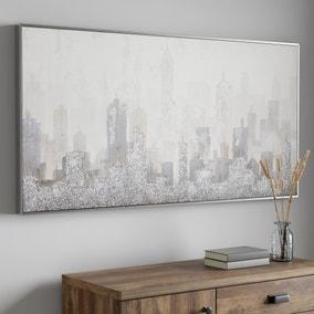 Grey Crityscape Canvas