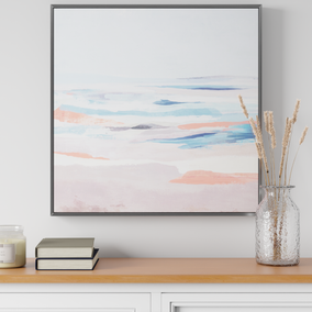 Pastel Seascape Print with Silver Frame