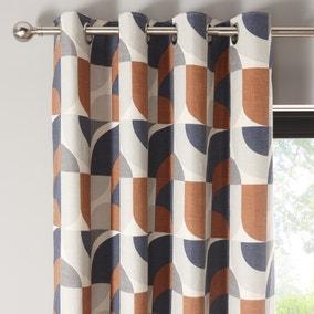 Elements Marne Navy Eyelet Curtains