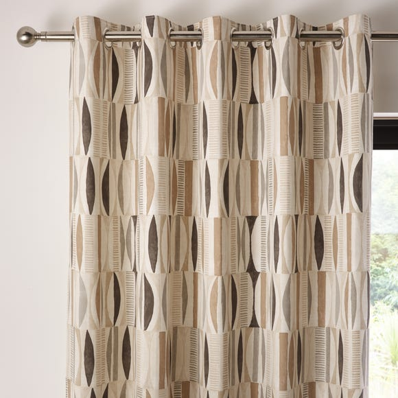 Cuba Natural Eyelet Curtains  undefined