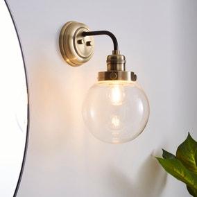 Broden Bathroom Wall Light Ant Brass