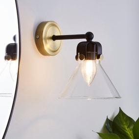 Paulson Bathroom Wall Light Antique Brass
