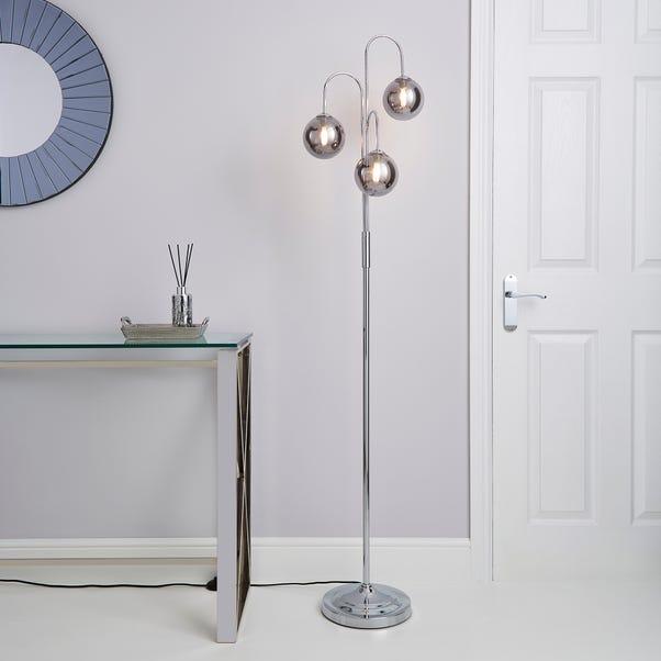 Gigi 3 Light Chrome Floor Lamp Chrome
