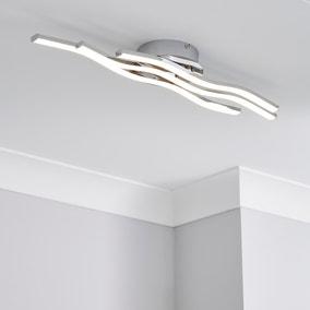 Ripple Integrated LED Bathroom Ceiling Fitting
