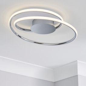 Langdon 2 Light Integrated LED Bathroom Ceiling Fitting