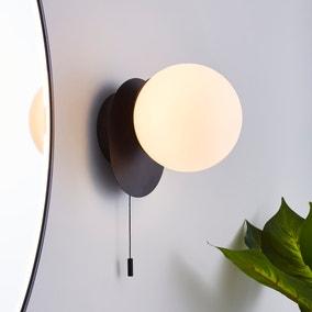 Tela Bathroom Wall Light Black