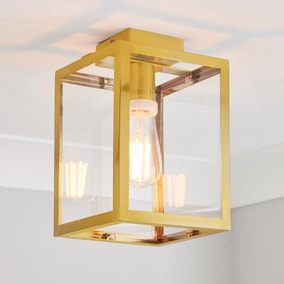 London Bathroom Ceiling Fitting Brushed Gold