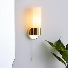 Porto Bathroom Wall Light Brass
