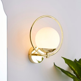 Fort Halo Bathroom Wall Light Champagne