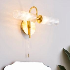 Dorma Henstone Bathroom 2 Light Wall Light