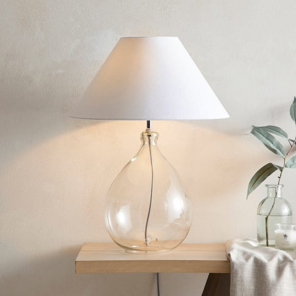 Dorma Purity Wimborne Glass Table Lamp Clear Clear