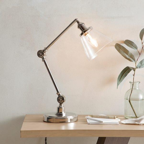 Dorma Purity Nickson Task Table Lamp Nickel