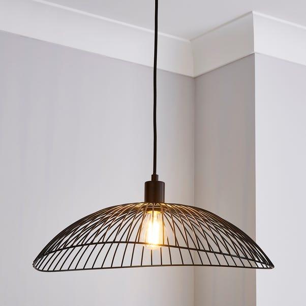 Elements Jaula 50cm Ceiling Fitting Black Matt Black