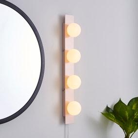 Coco Hollywood Mirror Light Matt Pink & White