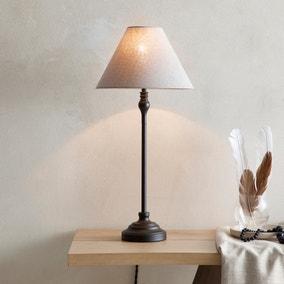 Dorma Bedford Table Lamp Black