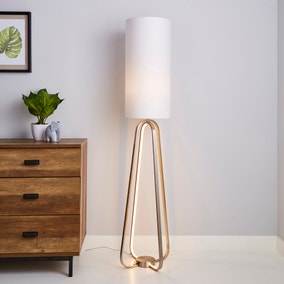 Robyn Dual Lit Integrated LED Floor Lamp White