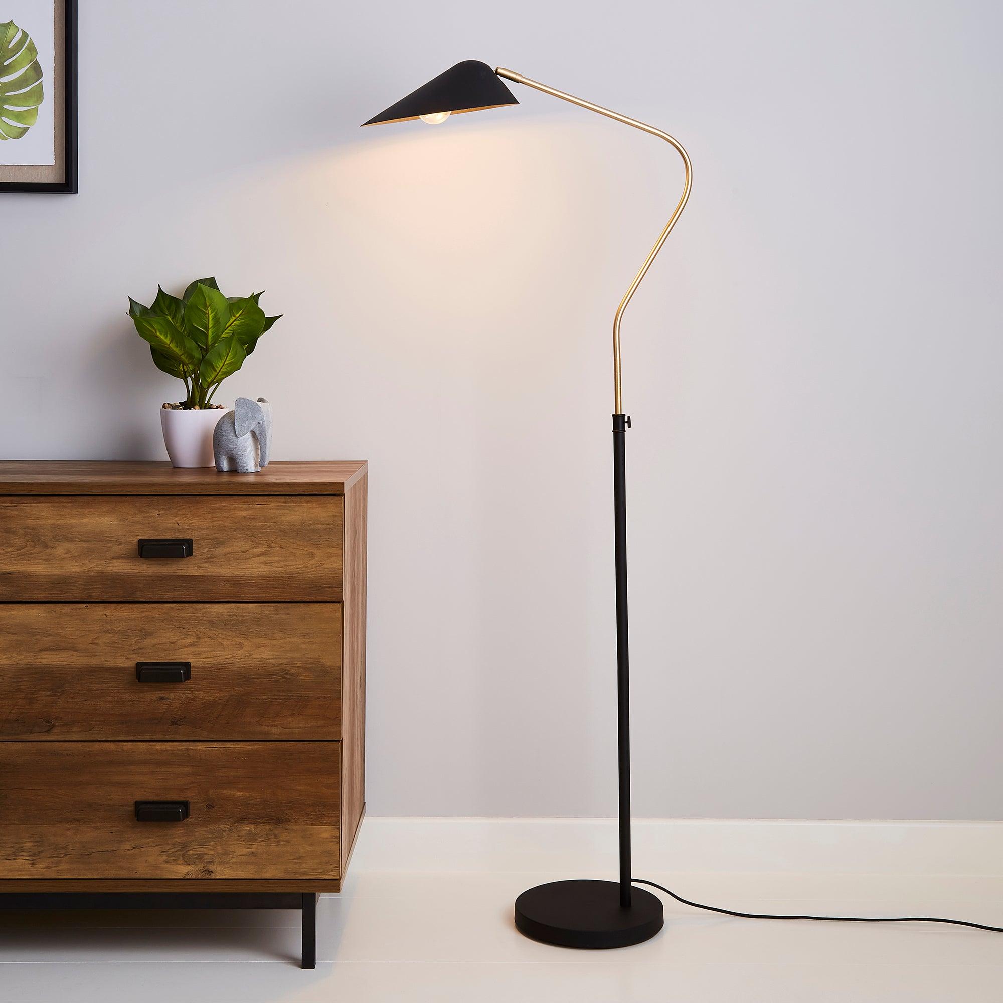 Savona Floor Lamp Black Black