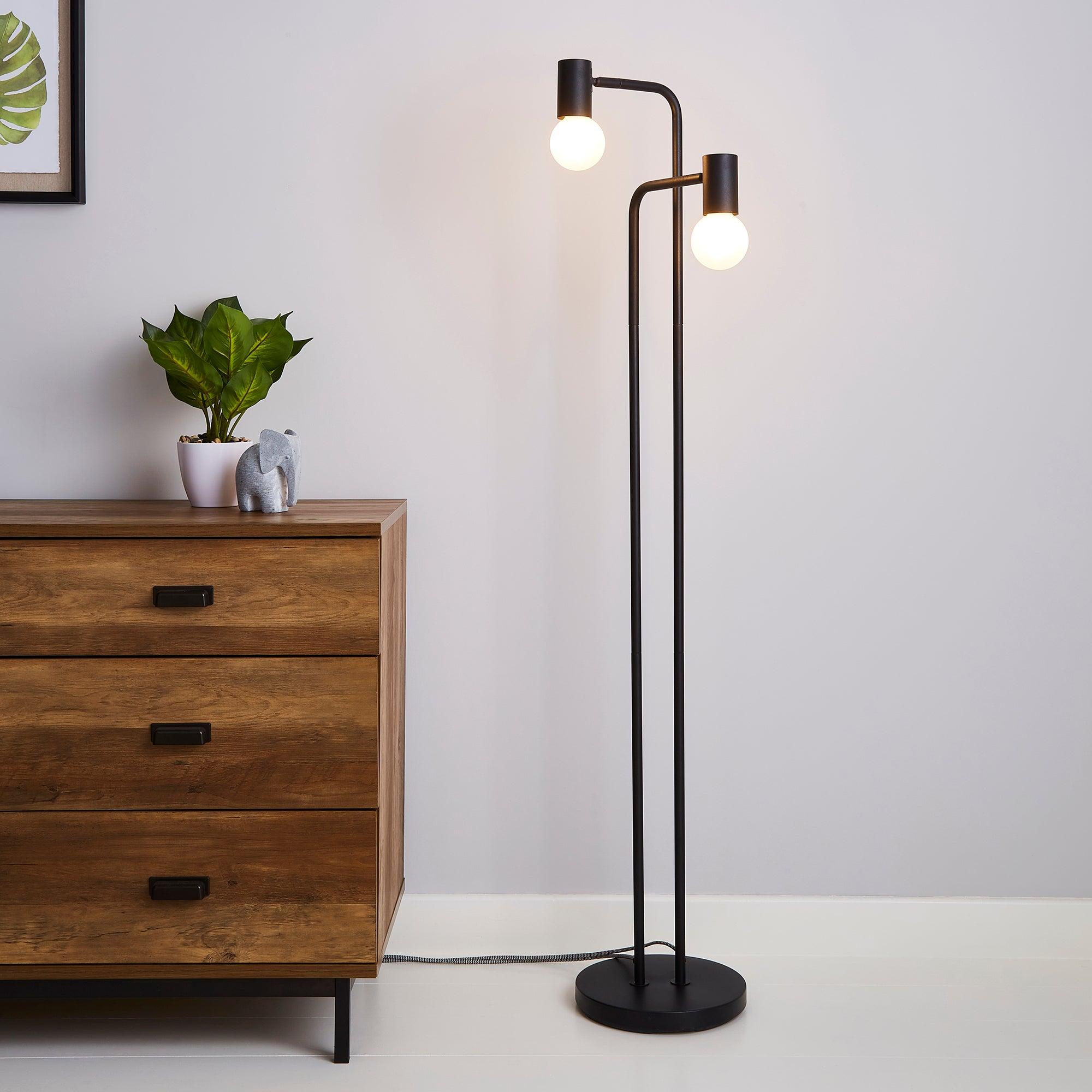 Bradford Floor Lamp Matt Black Matt Black
