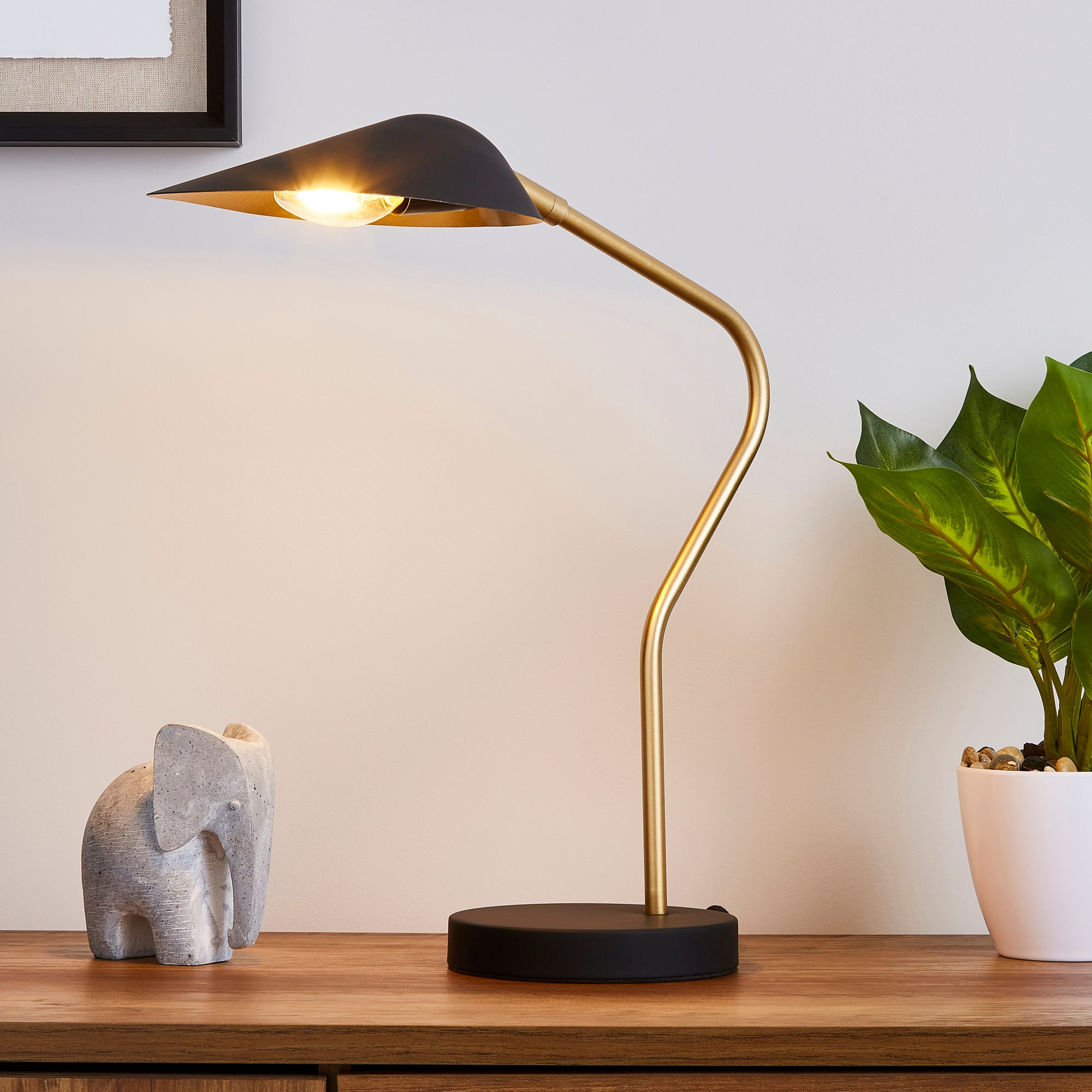 Savona Task Table Lamp Black Black