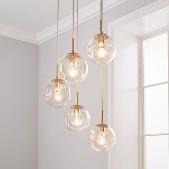 Alexis 5 Light Cluster Fitting Iridescent Silver