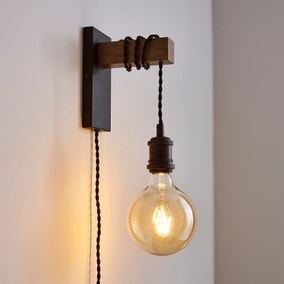 Fulton Easy Fit Plug in Wall Light