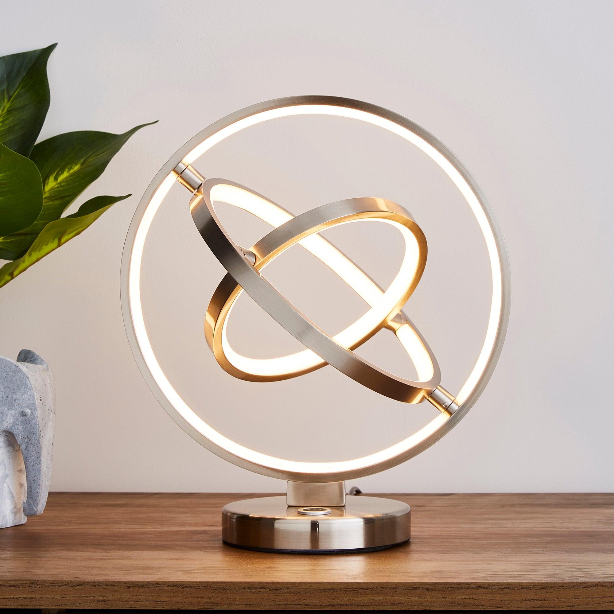 Chrome Ida Integrated LED Table Lamp Chrome