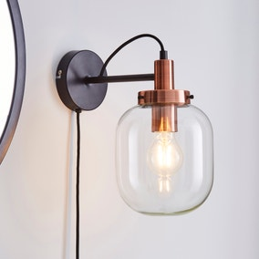Dayo Easy Fit Plug In Wall Light