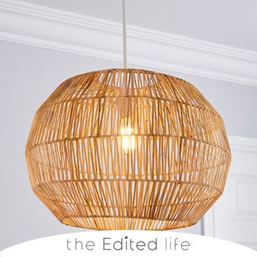 Wicker Woven Easy Fit Pendant Natural