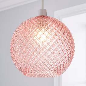 Elodie Faceted Glass Easy Fit Pendant Blush Lustre