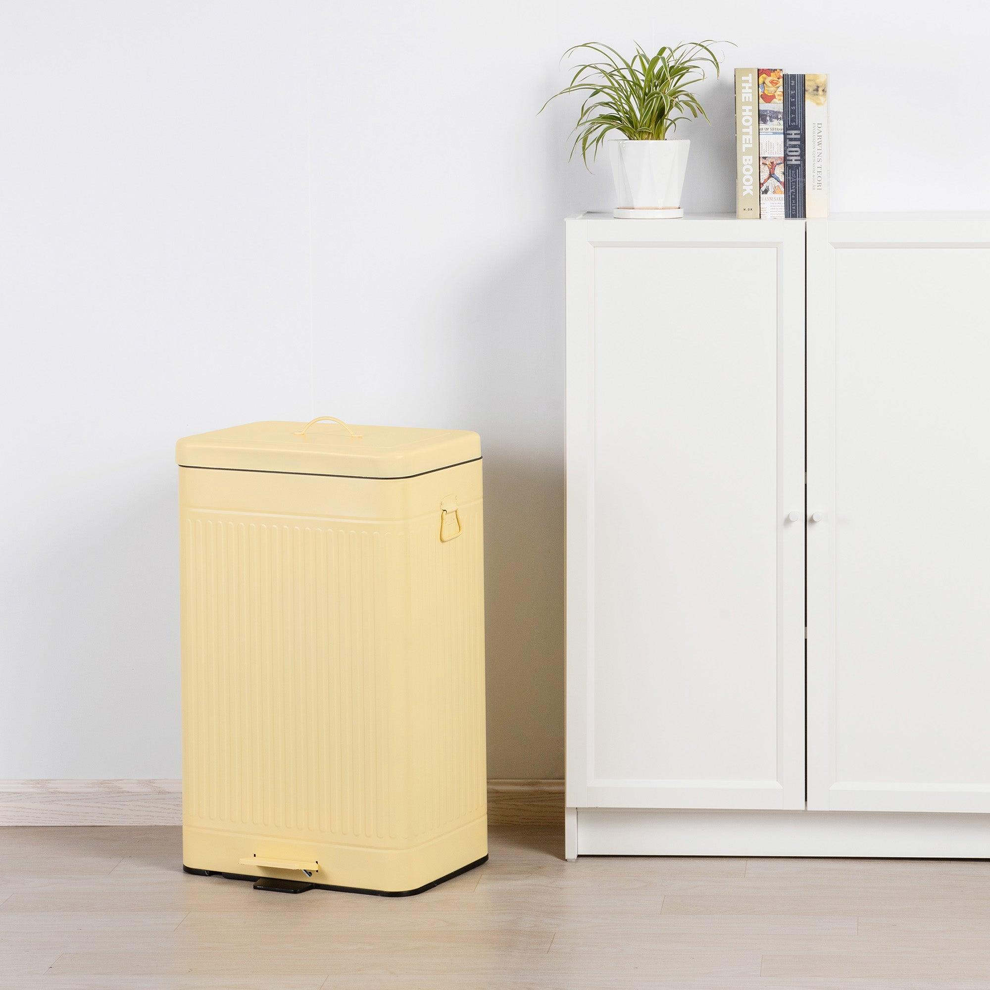 Lemon 60L Vintage Recycling Bin Lemon