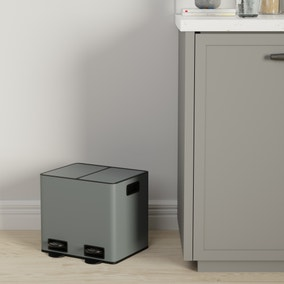 16L Low Recycling Bin Charcoal
