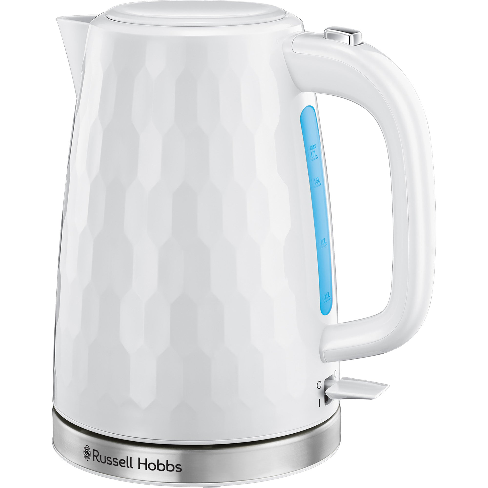 Click to view product details and reviews for Russell Hobbs Honeycomb Kettle White White.