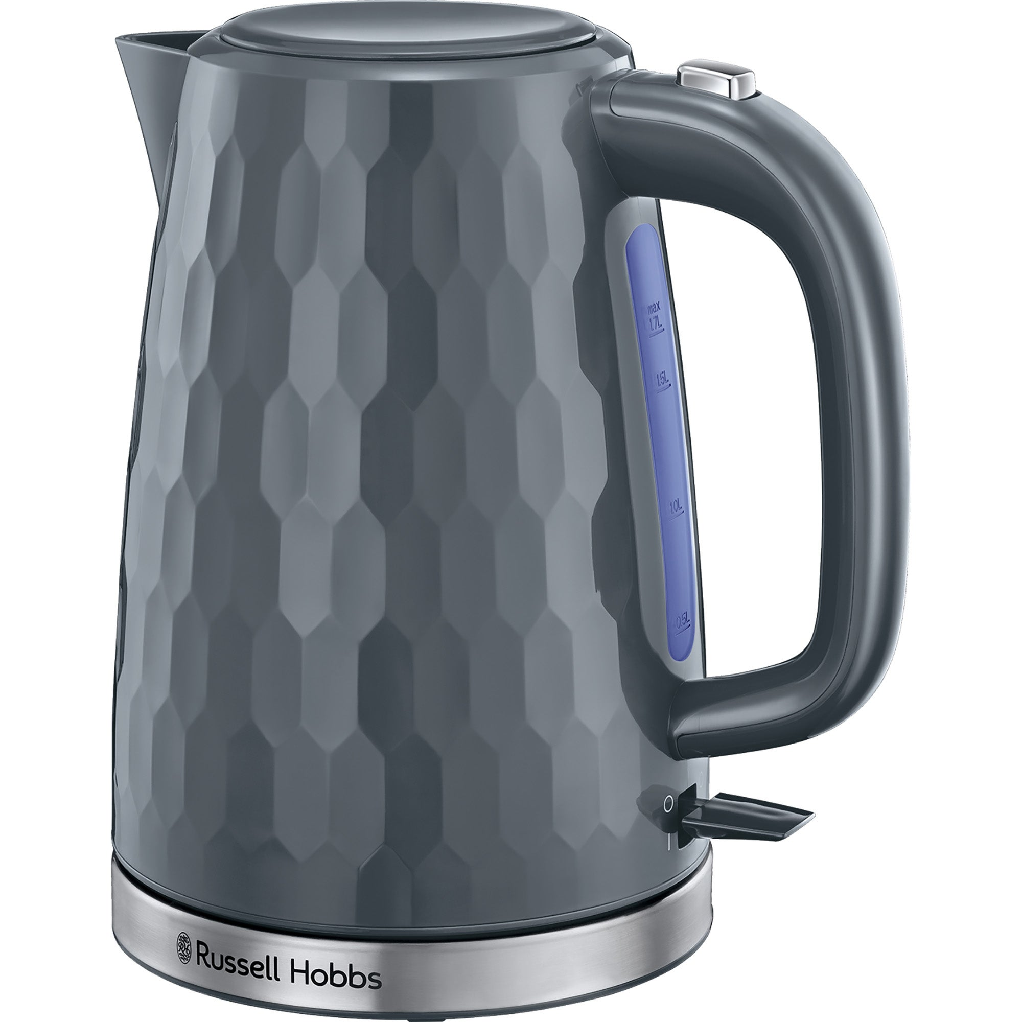 Click to view product details and reviews for Russell Hobbs Honeycomb Kettle Grey Grey.