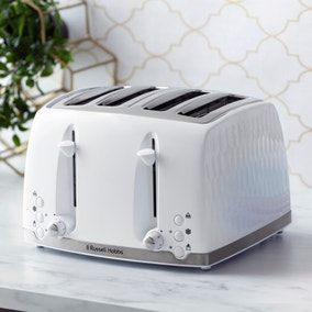 Russell Hobbs Honeycomb 4 Slice Toaster White