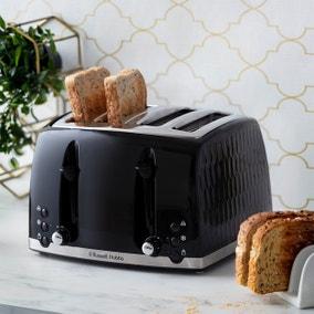 Russell Hobbs Honeycomb 4 Slice Toaster Black