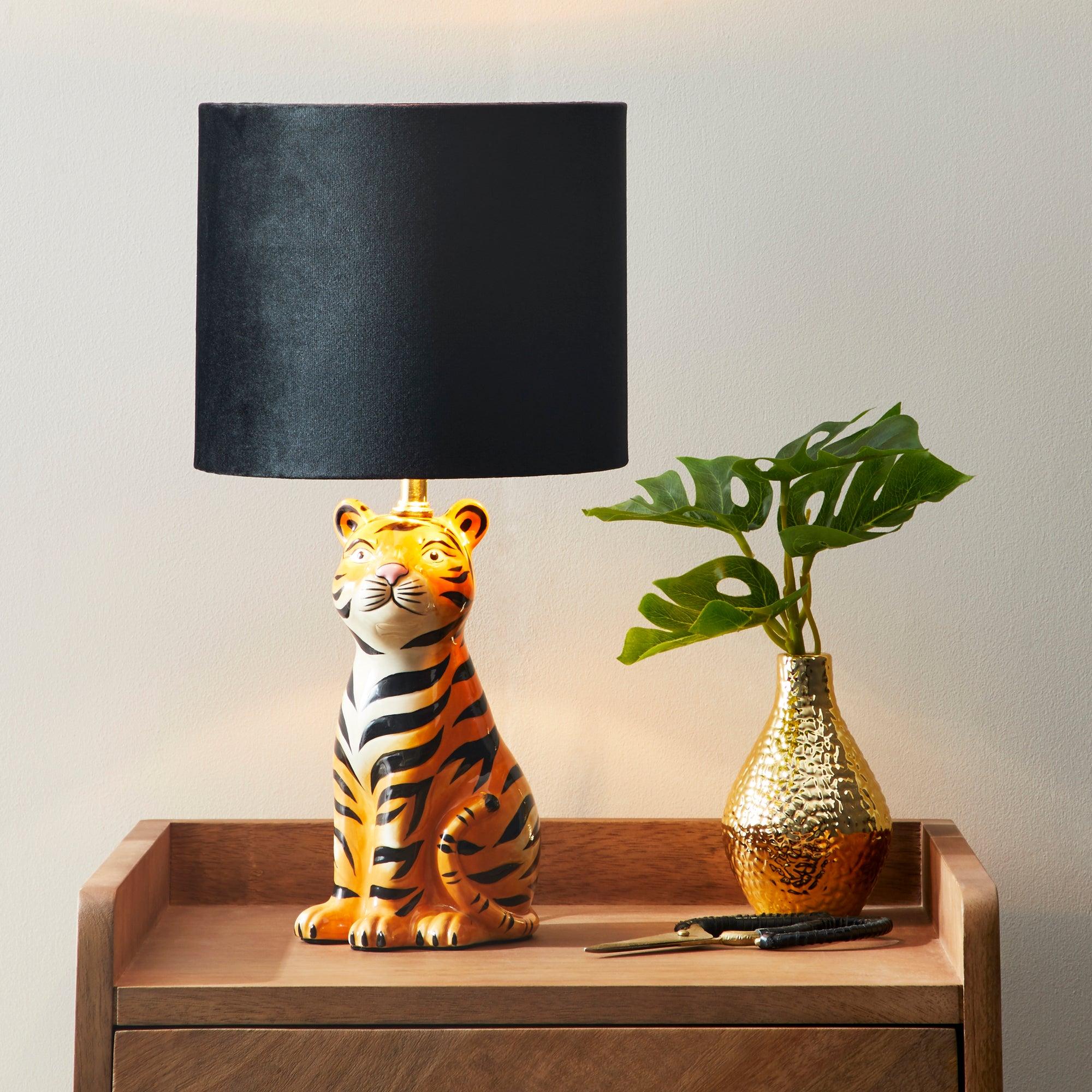 Tiger Table Lamp Black
