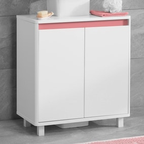 Vienna White Under Sink Unit with Reversible 4 in 1 Colour Bar