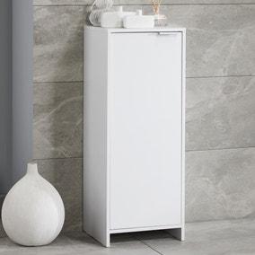 Jaxon White Single Door Floor Cabinet with Adjustable Shelf