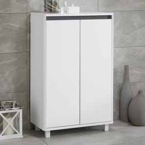 Vienna White Console Unit with Reversible 4 in 1 Colour Bar