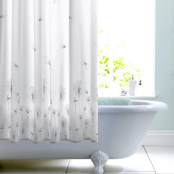 Dragonfly Mint Shower Curtain Mint