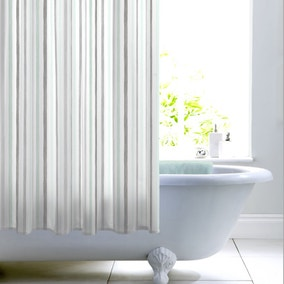 Dragonfly Mint Stripe Shower Curtain