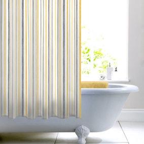 Ashbourne Ochre Stripe Shower Curtain