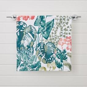 Tropique Green Printed Hand Towel