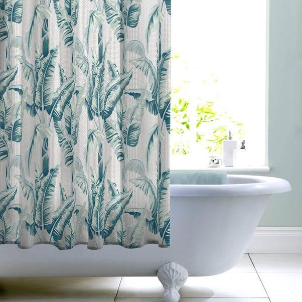 Banana Leaf Shower Curtain Green