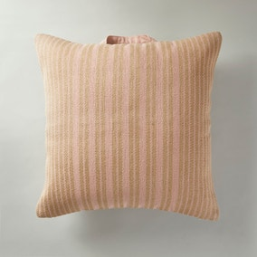 Jute and Cotton Pink Floor Cushion
