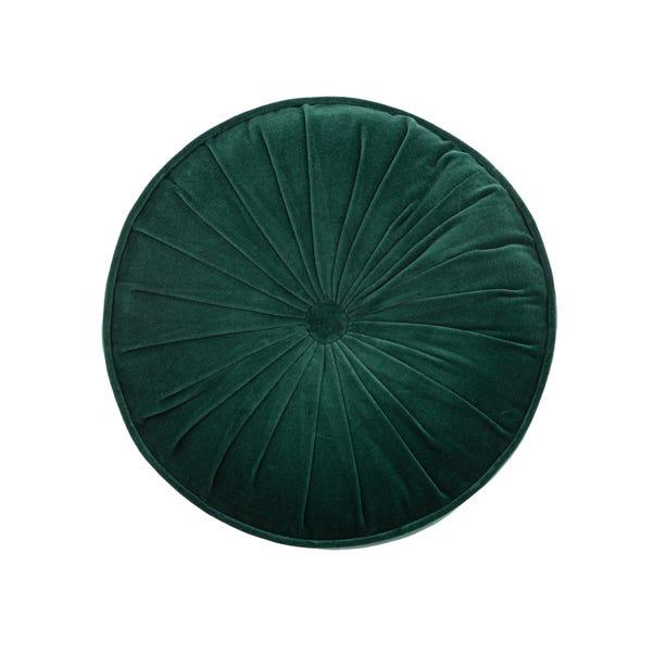 Emerald Clara Circular Cushion  Emerald Green undefined