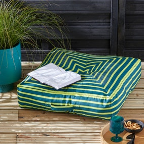 Elements Striped Water Resistant Outdoor Floor Cushion